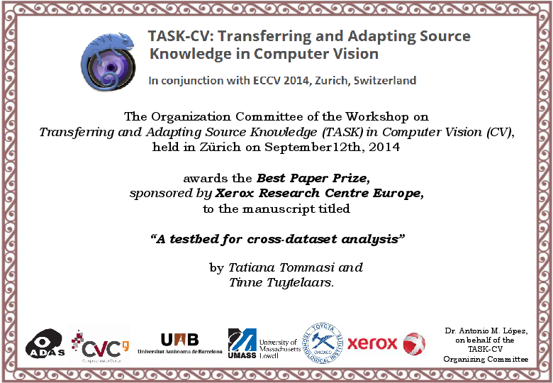 task cv transferring and adapting source knowledge in computer